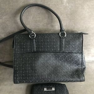 Guess Sachel with matching wallet NWOT Black